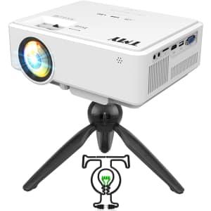 TMY LCD Mini Projector w/ Tripod for $50