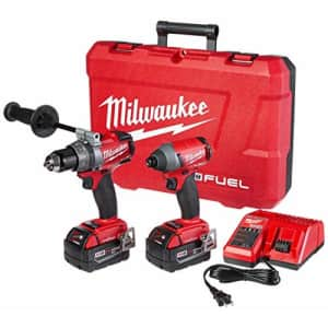 Milwaukee 2796-22 M18 FUEL ONE-KEY 18-Volt Lithium-Ion Brushless Cordless Hammer Drill/Impact for $530