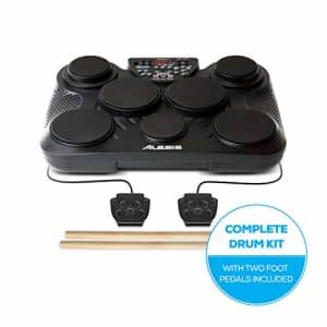 Alesis Compact Kit 7 | Ultra-Portable 7-Pad Electronic Table-top Drum Kit with Velocity-Sensitive for $240