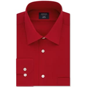Arrow Men's Fitted Non-Iron Performance Stretch Solid Dress Shirt for $10