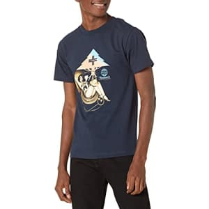 LRG Lifted Research Group Men's Graphic Design Logo T-Shirt, Navy, 2XL for $23