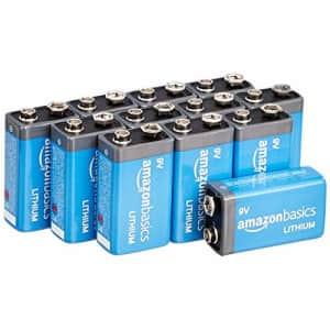 Amazon Basics 12-Pack 9 Volt High-Performance Lithium Batteries, 10-Year Shelf Life, Long Lasting for $78