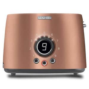 Sencor STS6056GD Premium Metallic 2-slot High Lift Toaster with Digital Button and Toaster Rack, for $49