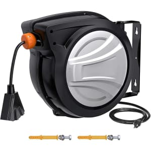 65-Foot Retractable Extension Cord and Reel for $130