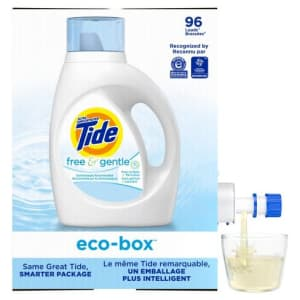Tide Free & Gentle 105-oz. Liquid Detergent Eco-Box for $12 via Sub & Save