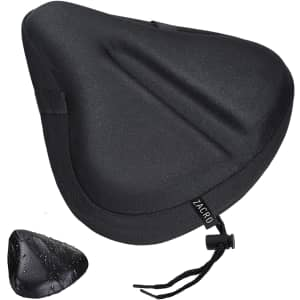 Zacro Gel Padded Wide Bike Seat Cover for $11
