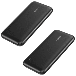 Aukey 10,000mAh Fast Charge Power Bank 2-Pack for $18