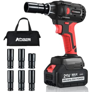 """Aoben 21V 1/2"""" Cordless Impact Wrench for $100"""