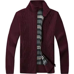 Msmsse Men's Casual Full-Zip Knitted Cardigan for $20