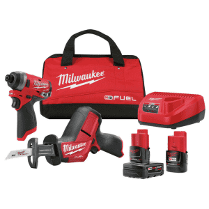 Milwaukee M12 FUEL Impact Driver/HACKZALL Reciprocating Saw Combo Kit for $180