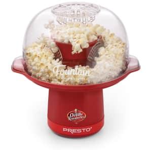 Presto Orville Redenbacher's Fountain Hot Air Popcorn Popper for $30
