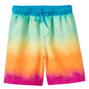 Lands' End Boys' Printed Swim Trunks for $15