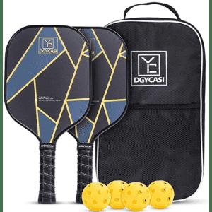 YC DGYCASI Pickleball Paddles Set for $29