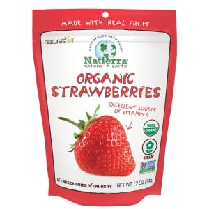 Natierra Nature's Organic 1.2-oz. Freeze-Dried Strawberries for $5
