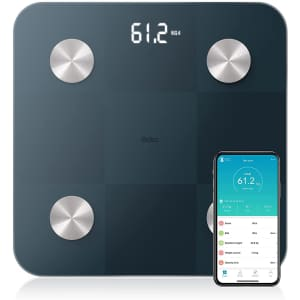 Odec Bluetooth Tempered Glass Body Fat Scale for $13