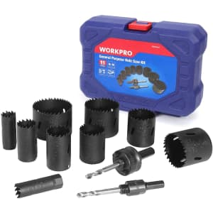 WorkPro 11-Piece Hole Saw Kit for $35