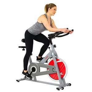 Sunny Health & Fitness SF-B1001S Indoor Cycling Bike, Silver for $179