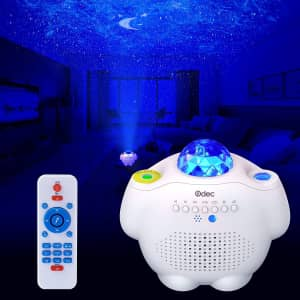 Odec Bluetooth Star Projector Night Light and Speaker for $31