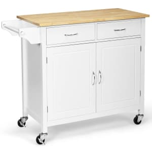 Costway Rolling Kitchen Cart Island for $175