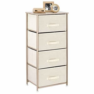 mDesign Storage Dresser Furniture Unit - Tall Standing Organizer Tower for Bedroom, Office, Living for $49