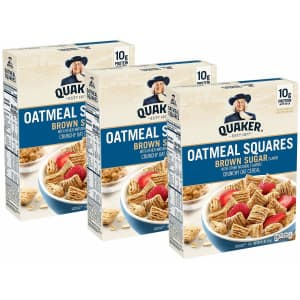 Quaker Oats Oatmeal Squares Breakfast Cereal 14.5-oz. Box 3 -Pack for $6.51 via Sub. & Save