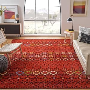 Safavieh Amsterdam Collection AMS108D Moroccan Boho Non-Shedding Stain Resistant Living Room for $40
