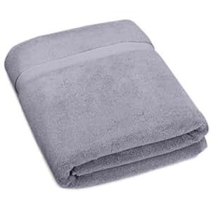 Amazon Brand Pinzon Heavyweight Luxury Cotton Large Towel Bath Sheet - 70 x 40 Inch, Platinum for $34
