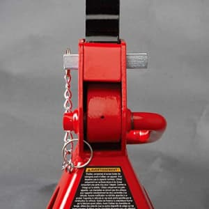 BIG RED T43002A Torin Steel Jack Stands: Double Locking, 3 Ton (6,000 lb) Capacity, Red, 1 Pair for $54