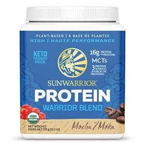 Sunwarrior Warrior Blend, Organic Vegan Protein Powder with BCAAs and Pea Protein (Mocha, 15 for $25