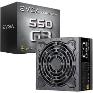 EVGA SuperNOVA 550 G3 550W 80 Plus Gold Modular Power Supply for $63