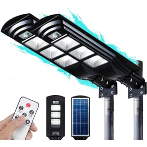 Fuhongrui 60W Solar Street Light 2-Pack for $107