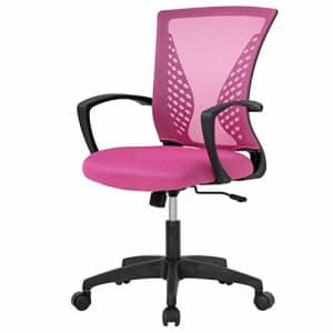 FDW Home Office Chair Mid Back PC Swivel Lumbar Support Adjustable Desk Task Computer Ergonomic for $56