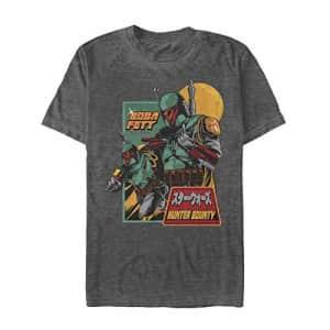 STAR WARS Men's T-Shirt, Black Heather, X-Large for $25
