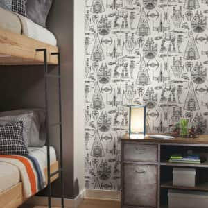 RoomMates Star Wars Blueprint Peel and Stick Wallpaper for $30