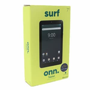 """ONN. Surf 7"""" Android Tablet 9.0 Pie 16GB 1.3GHz Quad-Core 2 Camera Bluetooth for $84"""