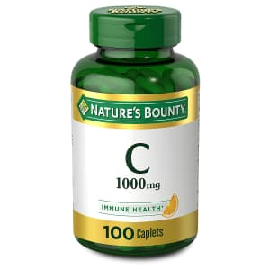 Nature's Bounty 100-Count 1,000mg Vitamin C Caplets for $9