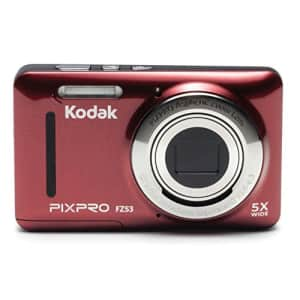 """Kodak PIXPRO Friendly Zoom FZ53-RD 16MP Digital Camera with 5X Optical Zoom and 2.7"""" LCD Screen for $84"""
