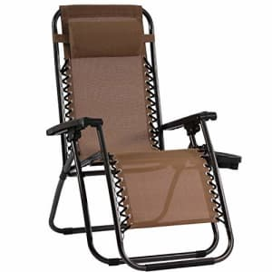 FDW Zero Gravity Chair Patio Chairs Lounge Patio Chaise 1 Pack Adjustable Reliners for Pool Yard with for $55