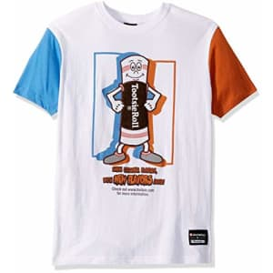 Southpole Men's Tootsie T-Shirt, White Stained, Large for $15