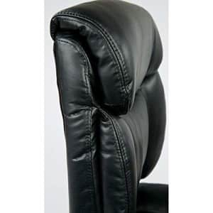 Office Star Padded Faux Leather Seat and Back Managers Chair with Flip Arms, Black for $130