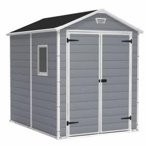 Keter Manor 6x8-Foot Resin Outdoor Storage Shed Kit for $740