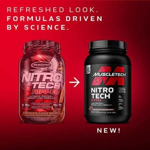 Protein Powder for Weight Loss | MuscleTech Nitro-Tech Ripped | Lean Whey Protein Powder + Weight for $60