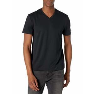 Perry Ellis Men's Standard Performance V-Neck Tee Shirt, Textured Black, Small for $25