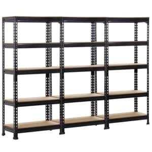 SmileMart 5-Tier Metal Garage Storage Rack 3-Pack for $150