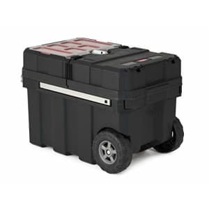 Keter Masterloader Resin Rolling Tool Box with Locking System and Removable Bins Perfect for $88