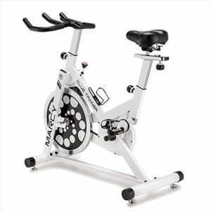 Marcy Club Revolution Indoor Home and Gym Cardio Cycling Exercise Bike Trainer, White for $250