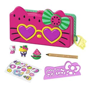 Mattel Hello Kitty and Friends Minis Watermelon Beach Party Pencil Case Playset (7.5-in) with 2 for $14