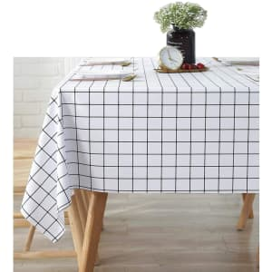 GDFG Checkered Waterproof Tablecloth 2-Pack for $6