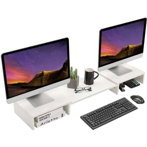 Superjare Adjustable Dual Monitor Stand for $42
