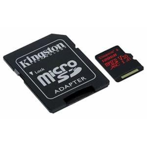 Kingston Canvas React 128GB microSDXC Class 10 microSD Memory Card UHS-I 100MB/s R Flash Memory for $29